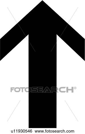 Arrow Pointing Up Clip Art U11930546 Fotosearch