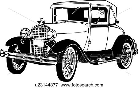clip art of   1920  1927  1930  443  automobile  car