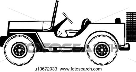 clipart of auto automobile car jeep u13672033 search clip