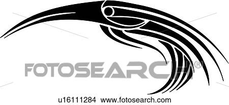 clipart of animal bird tribal tattoo u16111284 search clip rh fotosearch com tribal clipart png tribal clip art designs free
