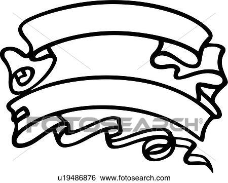 clip art of renaissance banner ribbon scroll u19486876 rh fotosearch com clip art scroll border clip art scrolls and flourishes