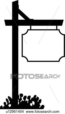 clipart of basic blank border panel shapes sign signpost rh fotosearch com blank road sign clipart blank sign clipart free