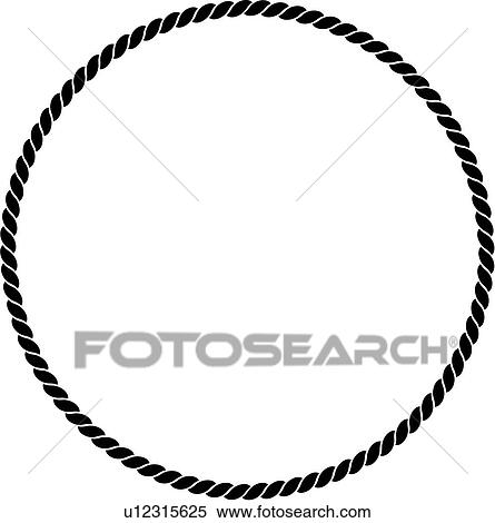 clipart of basic blank border circle fancy frame nautical rh fotosearch com rope clipart black and white rope clipart border