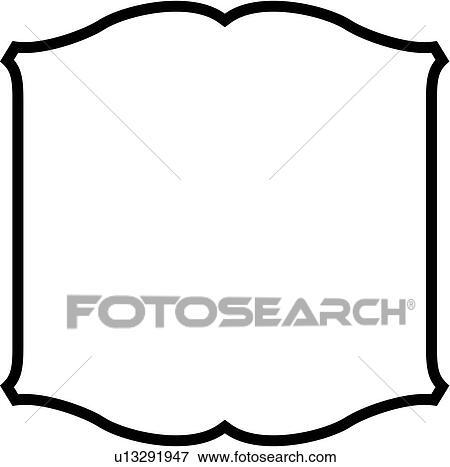 clip art of basic blank border panel shapes scroll sign rh fotosearch com scroll border clip art clipart free blue scroll border clipart