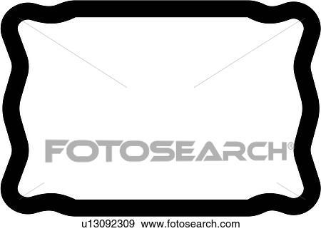 clip art of basic blank border rectangle sign panel shapes