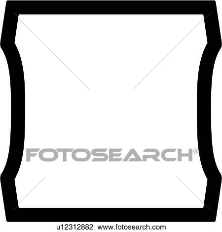 Basic Blank Border Sign Square Panel Shapes