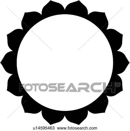 clipart of blank border circle fancy frame lotus mandala rh fotosearch com clip art circle frames clip art circles free