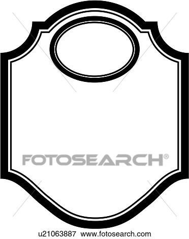 Clip Art of , blank, border, dome, fancy, frame, sign, panel, shapes ...