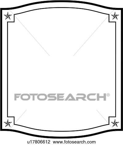Clipart of , blank, border, fancy, frame, sign, square, stars, panel ...