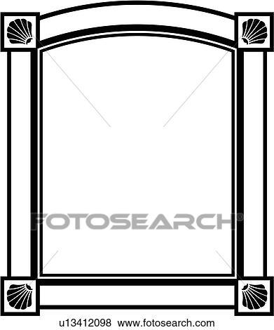 Clip Art of , border, fancy, frame, rectangle, sign, panel, shapes ...