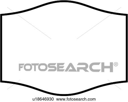 clipart of sign basic blank border dome panel shapes rh fotosearch com blank construction sign clipart blank caution sign clipart