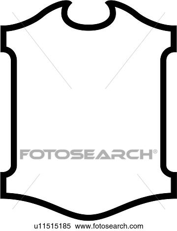 clipart of sign basic blank border shield panel shapes