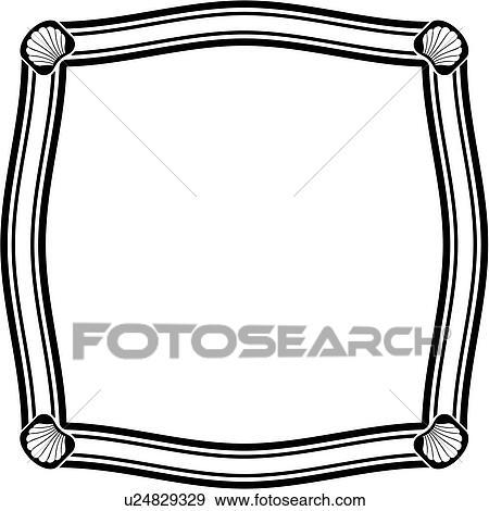 clip art of sign basic blank border square panel shapes rh fotosearch com Angular Border Clip Art Fire Border Clip Art