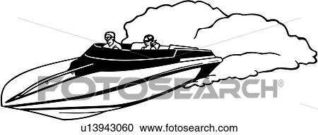 clipart of boat power racer speed sport u13943060 search rh fotosearch com free boating clipart images free boating clipart images