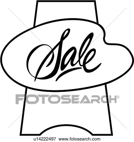 Clip Art Of Business Signs Lettering Sale Sign Sign Word Sign