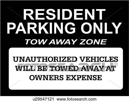 Towed Business Signs Lettering Parking Prefabricated Resident Word Sign