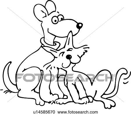clipart canino desenhos animados gato cão felino amigos