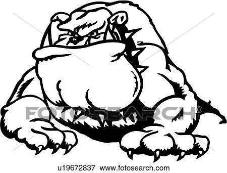 Clip art animale bulldog canino cartone animato - Animale cartone animato immagini gratis ...