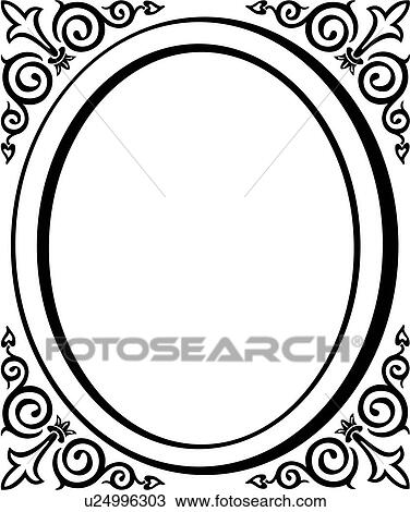 clipart of blank border fancy flourish frame oval u24996303 rh fotosearch com clip art swirls flourishes flourish clipart flourish clipart