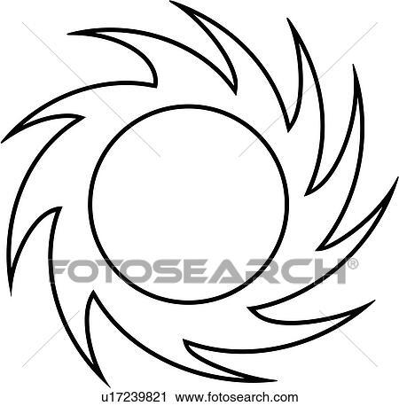Clipart Of Blank Border Fancy Frame Pinwheel Starburst