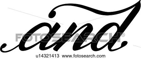 clipart of and lettering word u14321413 search clip art