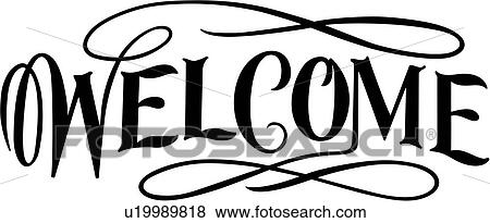 lettering business sign business signs welcome word clip art