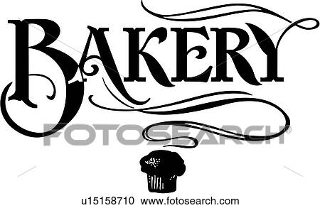 clipart of word bakery business sign business signs lettering