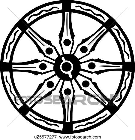 clip art of buddhism karma mandala religion wheel u25577277 rh fotosearch com religious clipart borders religious clipart for kids