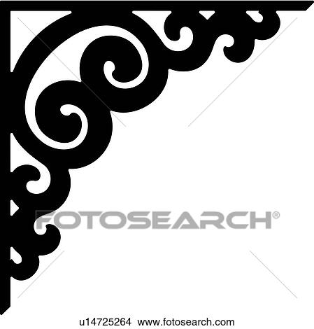 clipart of border bracket corner scroll u14725264 search rh fotosearch com corner clipper ruler corner clipart free for commercial use