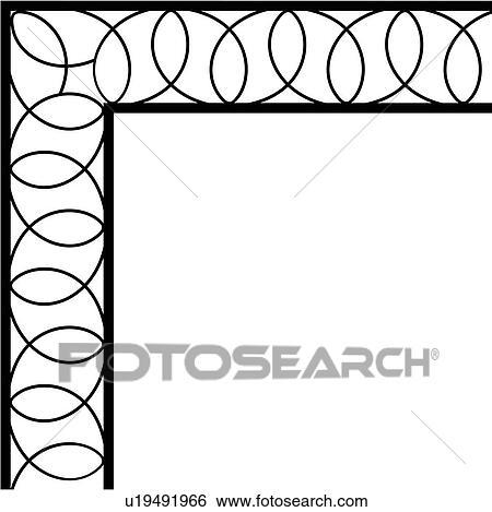 clip art of border corner swirls u19491966 search clipart rh fotosearch com clip art swirly line clip art swirls and curls free