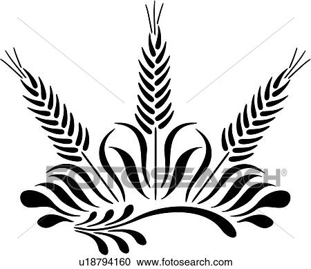 clipart of amish dutch folk art grain holland netherlands rh fotosearch com grain clipart png clipart grain of wheat