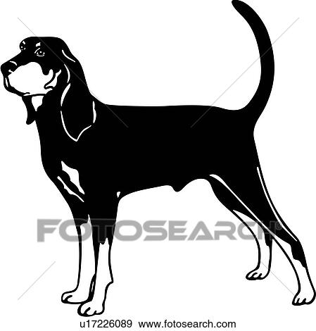 clip art of animal breeds canine coon hound dog show dog rh fotosearch com free hound dog clipart