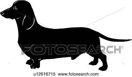 clipart of animal breeds canine dachshund dog show dog rh fotosearch com Dachshund Black and White Clip Art Heart Clip Art