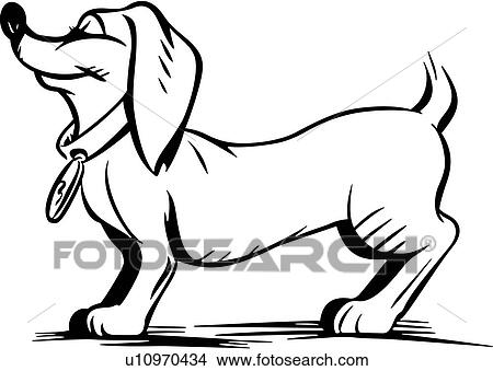 Clipart Of Animal Canine Cartoons Dachshund Dog Hot Dog Pet