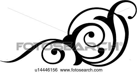 clip art of bijoux flourish ornaments scroll u14446156 rh fotosearch com clip art swirls flourishes flourish clipart for wedding invites