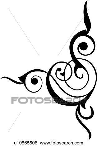 clip art of pinstriping swirls u10565506 search clipart rh fotosearch com clip art swirl borders clip art swirl marks