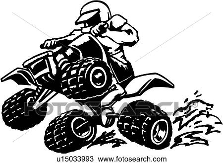 clipart of 4 wheeler action atv buggy off road sport extreme rh fotosearch com atv clipart images atv silhouette clip art