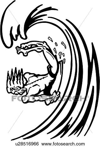clip art of action boogie sport surf surfboard wacky water rh fotosearch com surfer girl clipart black and white