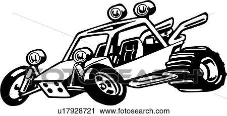 clipart buggy caricatura carruagem duna desporto excêntrico