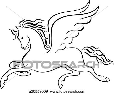 clip art of animal myth mythical mythological pegasus roman rh fotosearch com pegasus clipart royalty free cute pegasus clipart free