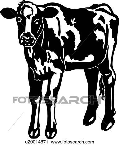 Clipart Of Animal Breeds Cattle Cow Farm Holstein Livestock