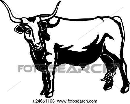 clipart of cattle animal breeds bull farm livestock longhorn rh fotosearch com livestock show clipart livestock judging clipart