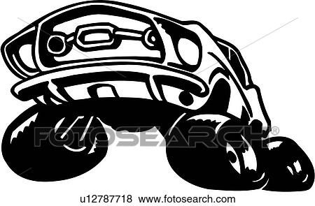 clip art of auto automobile car sport toon car toon