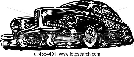 clipart of automobile car hot rod hotrod u14554491 search rh fotosearch com hot rod clipart designs for vinyl cutting hot rod clipart drawing 1932 ford