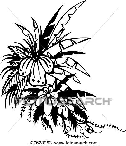 clipart of flower bouquet border corner ornaments tropical rh fotosearch com corner clipart images corner clip art free download