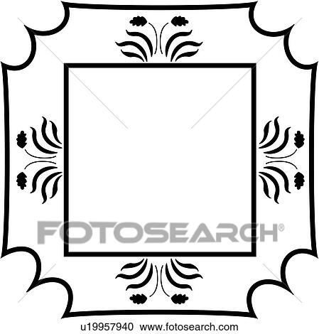 clipart of amish blank border fancy folk art frame sign rh fotosearch com fancy border vector png fancy border vector art free