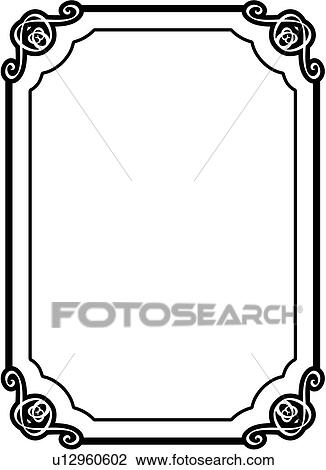 Clipart of , asian, blank, border, fancy, frame, rectangle, sign ...