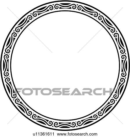 Clipart of , blank, border, circle, fancy, frame, round, sign, panel ...