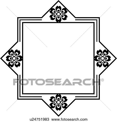 clipart of blank border fancy folk art frame sign square rh fotosearch com blank wooden sign clipart blank picket sign clipart