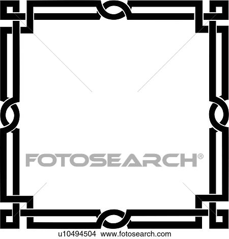 Clipart of , blank, border, fancy, frame, geometric, square ...